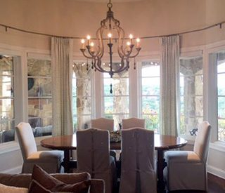 Dining area designed by Embellish My Home.